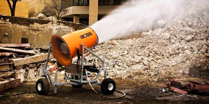 Dust Control Fans : Dustboss dust suppression cannon
