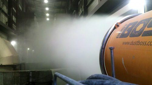 Suppressing blasting dust