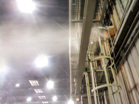 dust control at steel factory