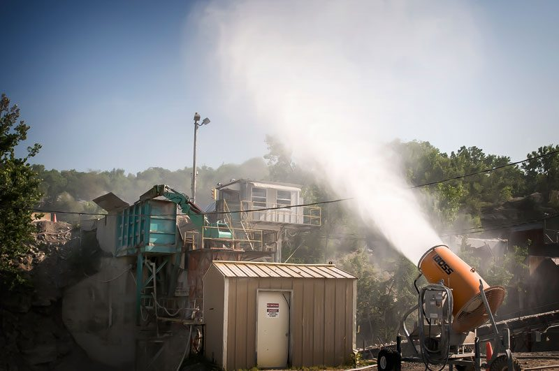 Dust Control at Crusher for Limestone Mining