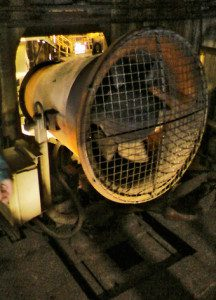 dust suppression at steel factory
