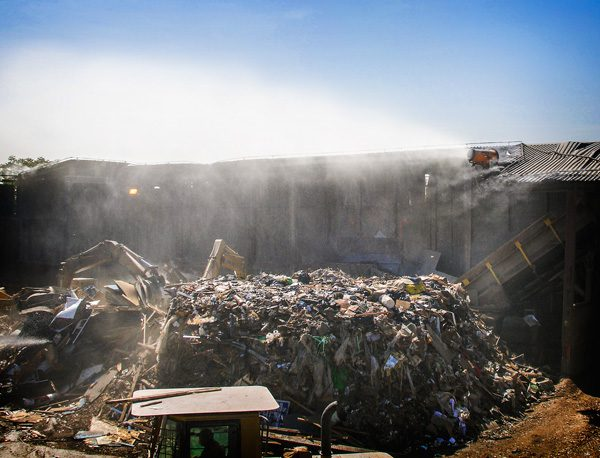 Dust Suppression in Construction and Demolition Recycling