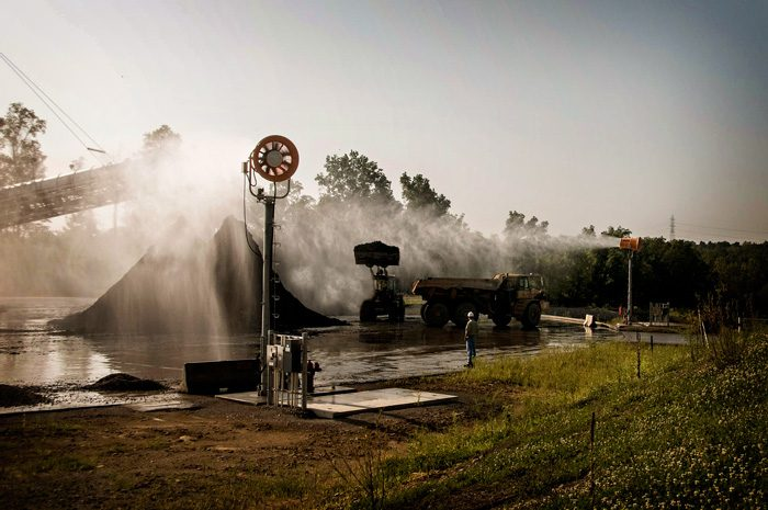 Dust Suppression Towers Fly Ash Landfill Dust