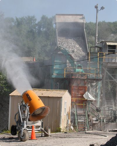 Linwood mining increases production with innovative dust control