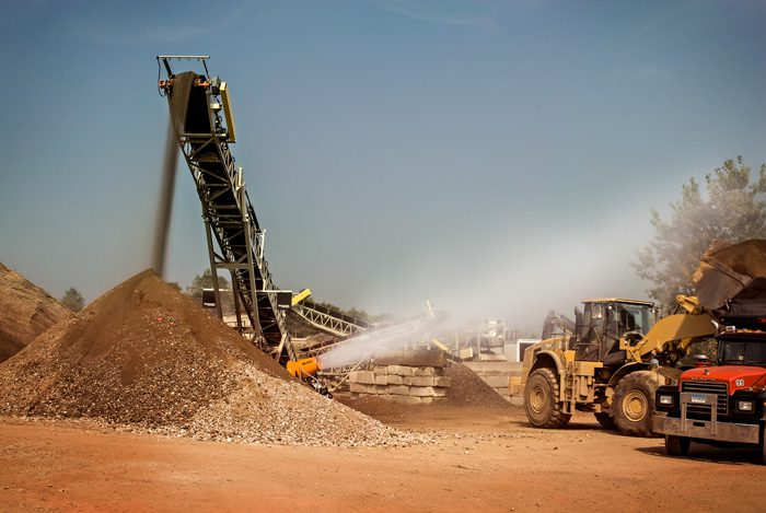 Recycling Aggregate and Concrete Dust Suppression
