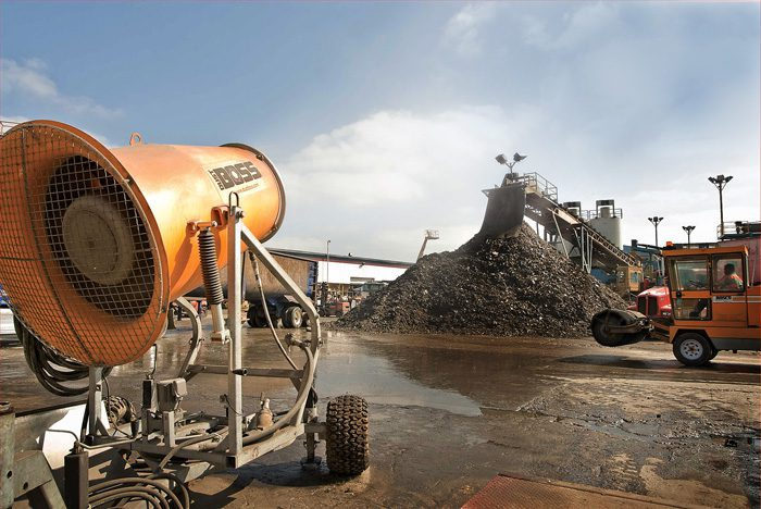 auto recycling dust suppression
