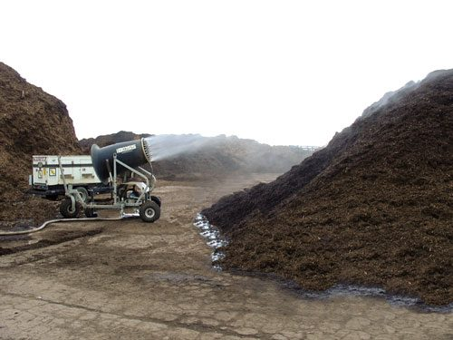 Dust Suppression at Compost Facility