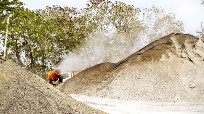DB-60 at trinidad cement to suppress dust