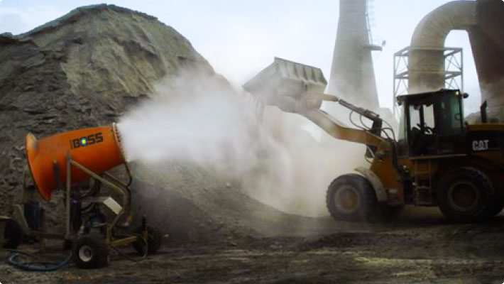 Dust cannon at trinidad cement suppressing dust