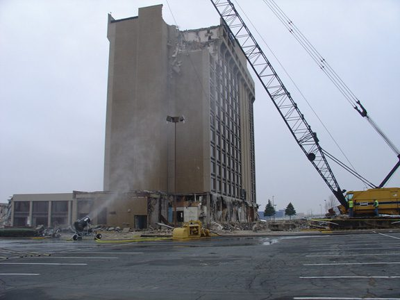 Dust Control at Hotel Demolition