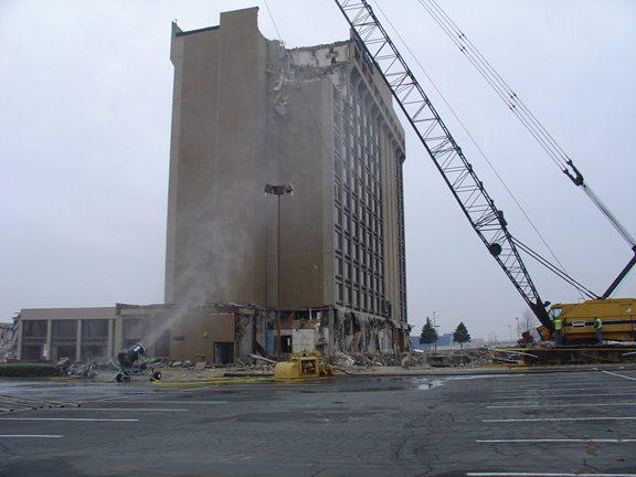 Dust Control at Hotel Demolition