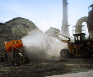dust control at limestone crushing operation