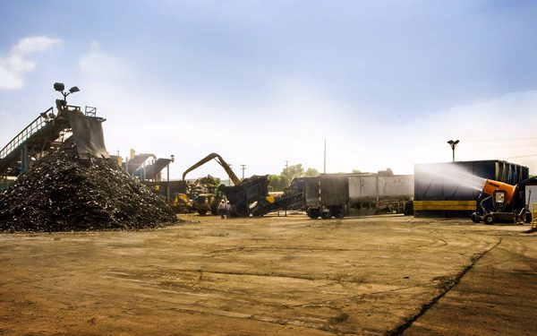 Dust Suppression at Auto Recycling Plant