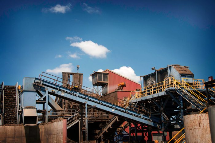 Metal Recycling Facility Using Dust Control