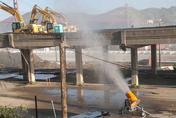 DustBoss at demolition job