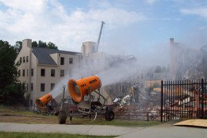 DustBoss at demolition site