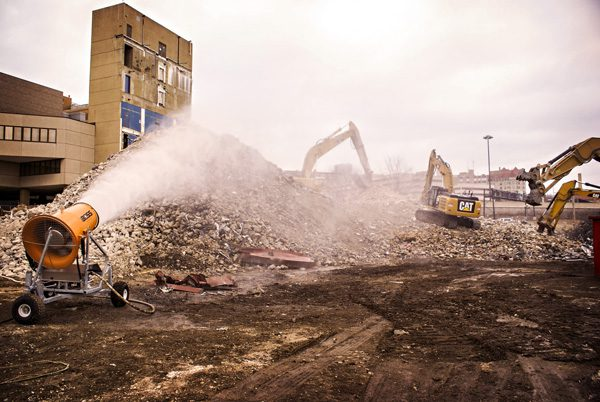 Demolition Dust Suppression Running at Hospital Project