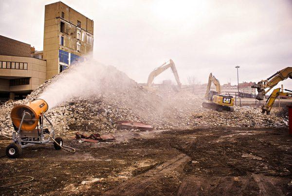 demolition dust suppression