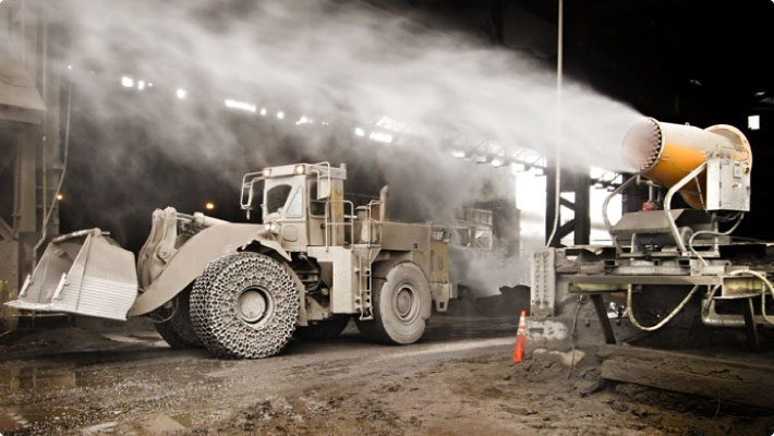 Dust suppression system for steel mill slag