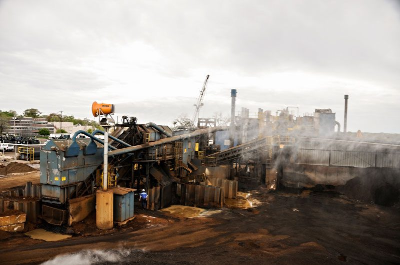 Scrap Recycling Facility Implementing Innovative Tower Dust Control