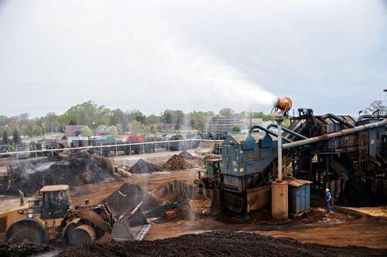 Scrapyard dust control
