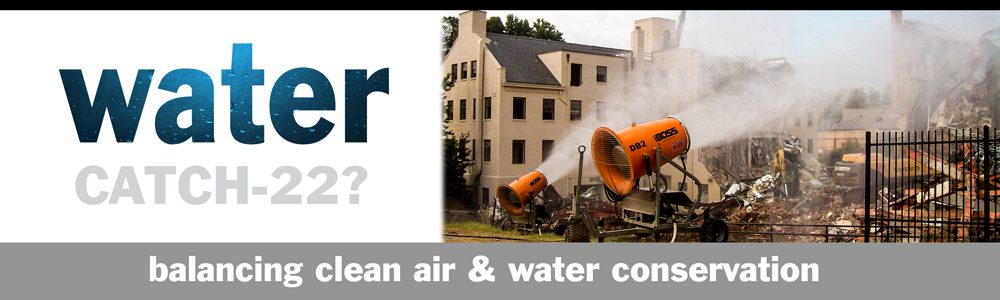 Balancing clean air and water conservation in dust suppression systems