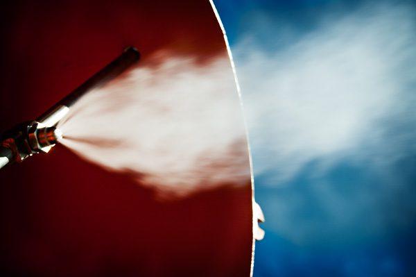 Odor control nozzle