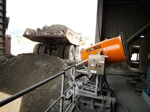 dust suppression at truck dump