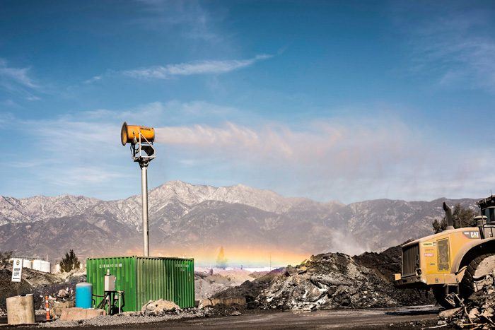slag dust suppression in water starved California