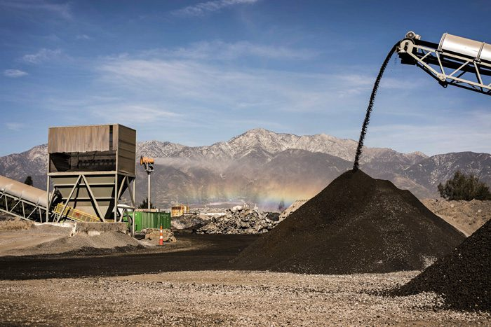 Suppressing Slag Dust at Recycling Facility