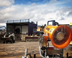 10 dust controllers eliminating dust at metal reclamation facility