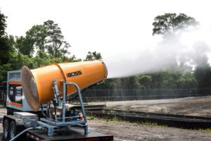 trailer mounted dust suppression cannon with genset