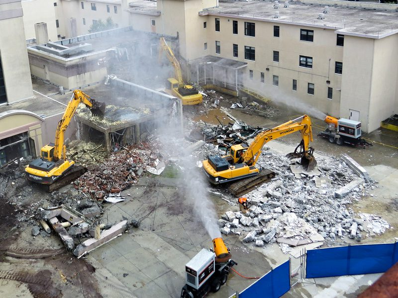 Dueling DB-60 Fusions at demolition site