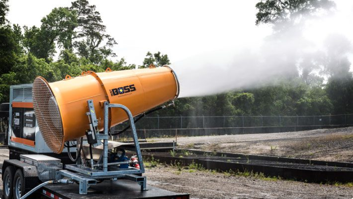 DustBoss DB-100 Fusion at coal and power plant