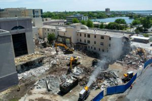 DustBoss providing effective dust suppression at demolition site