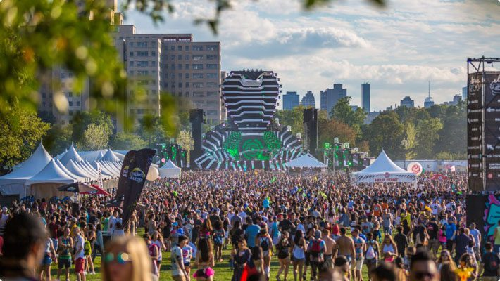 Electric zoo festival cobra stage with large crowd