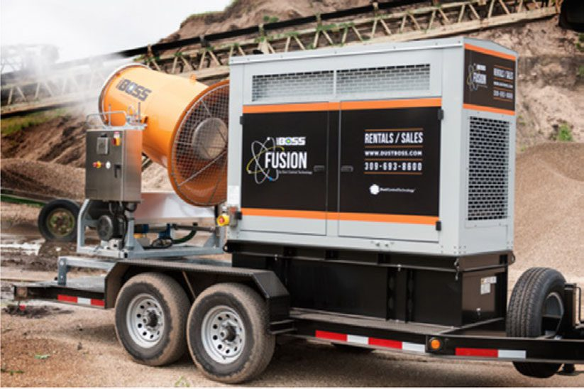 Silica dust compliance is important. Learn more about BossTek's DustBoss 60 Fusion for Silica Dust Control.