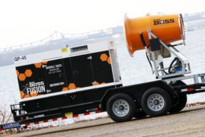 DustBoss DB-60 Fusion mobile dust control with updated Tier IV generator