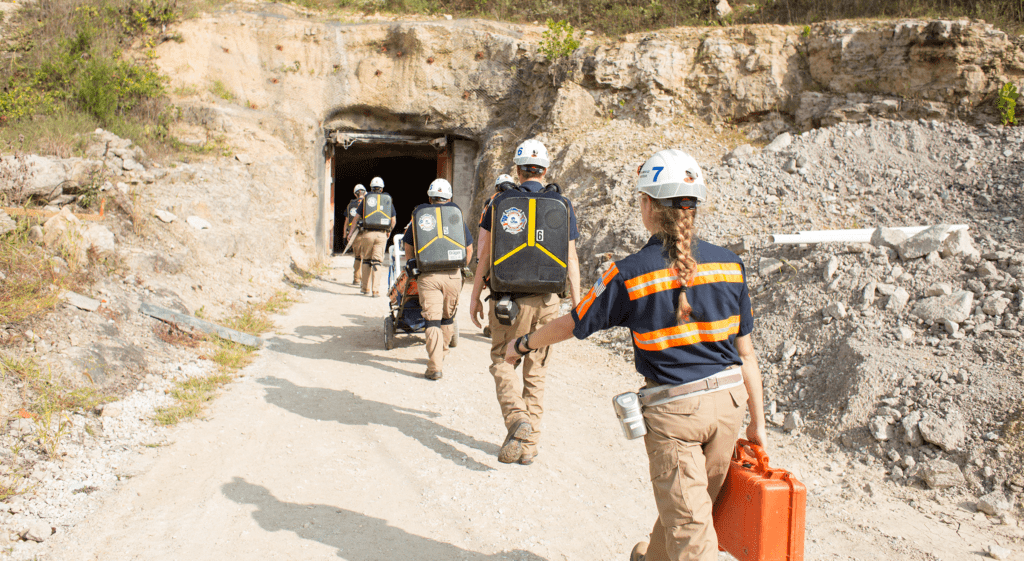 Missouri ST Gold Mine Rescue Team
