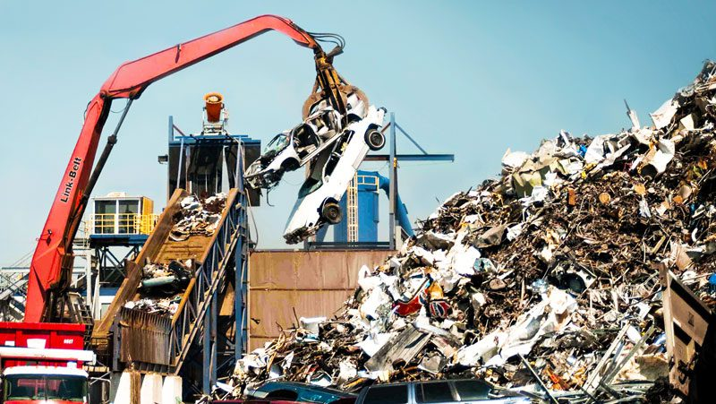 Dust Control at Scrap Yard Unloading Process