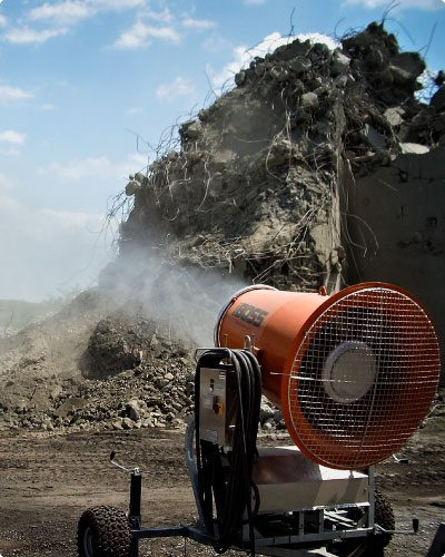 DustBoss throughout the industries concrete crushing facility