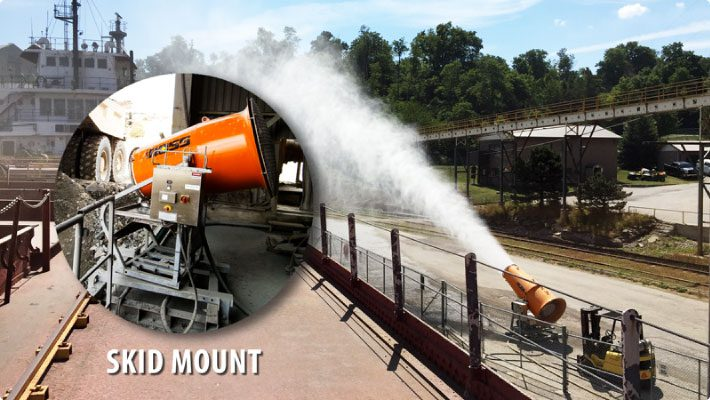 Skid Mount With Close Up And Dust Control System