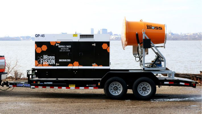 Trailer Mount Dust Control Fusion System At Peoria River