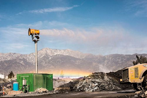 DustBoss Tower Mounted dust control for extended reach and coverage