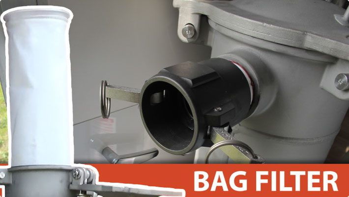 Bag filter for clogged nozzle solution