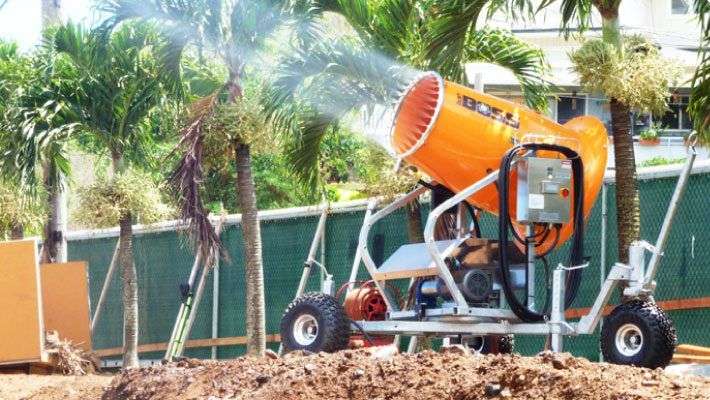 Dustboss db-60 at industrial and construction site in a tropical environment