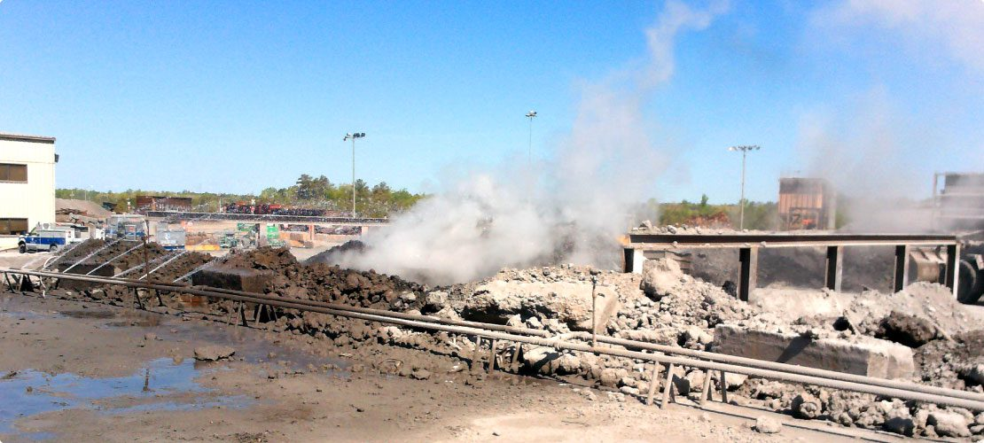 What is fugitive dust at steel mill with slag dumping pits