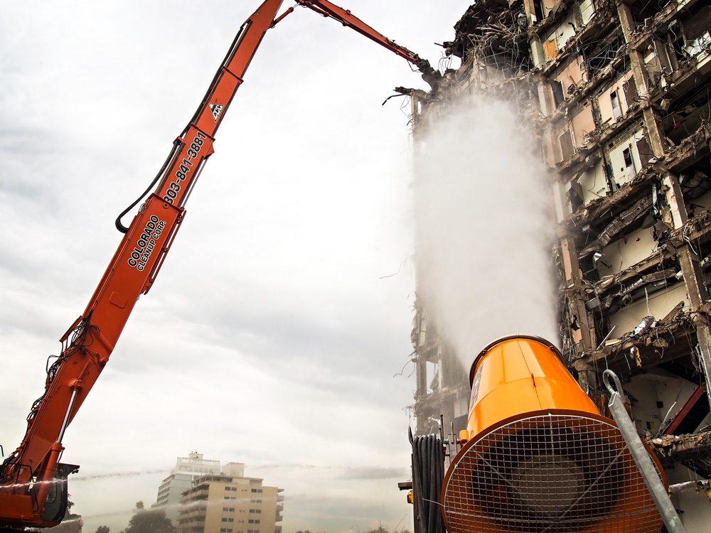 Colorado Dust Control Cannon at Demolition