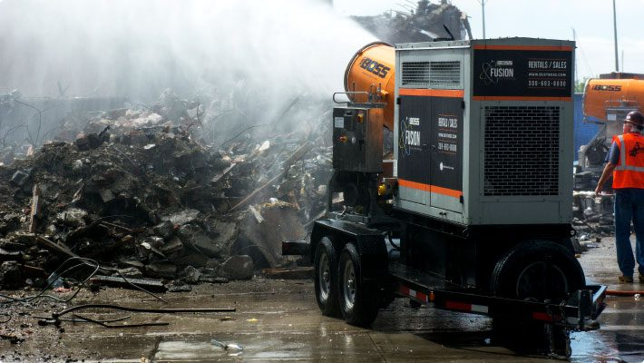 Dueling fusions at demolition site