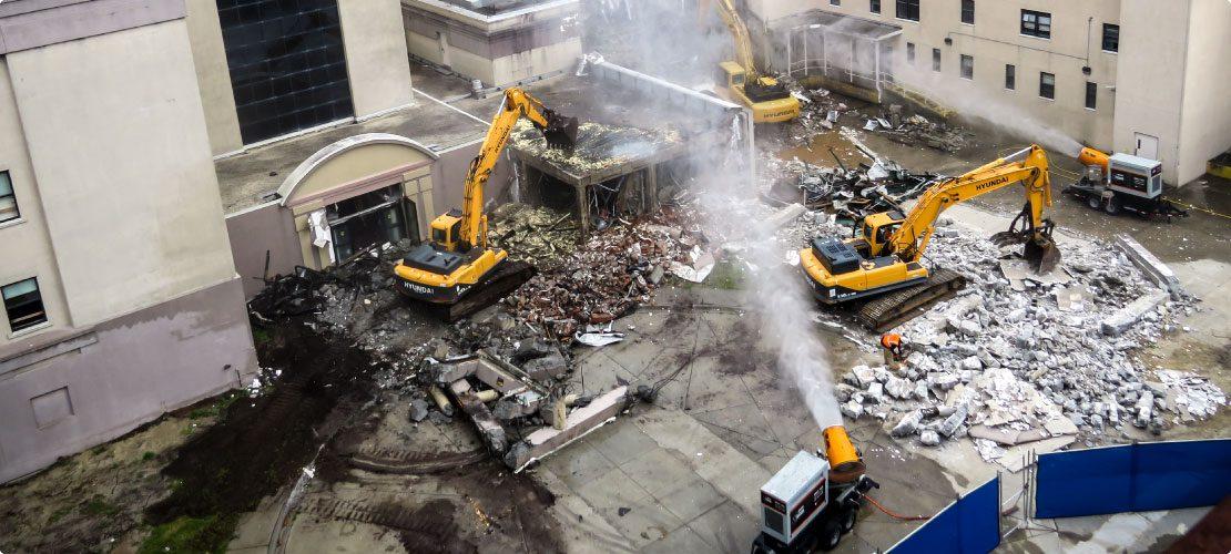 Hospital zone demolition contractor